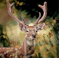 Contemplating by Debbie Boon - Limited Edition on Canvas sized 20x20 inches. Available from Whitewall Galleries